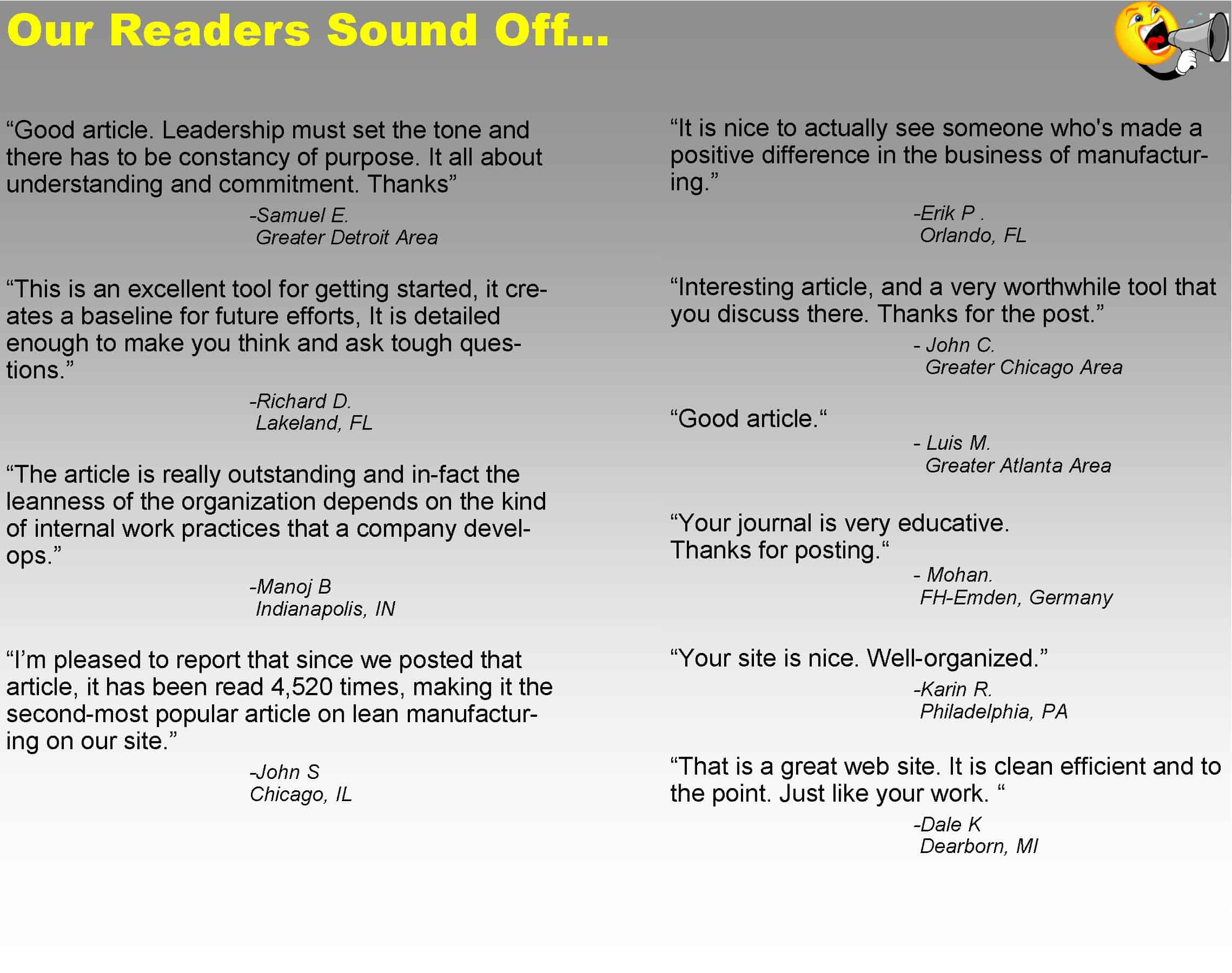 Our Readers Sound Off Quotes