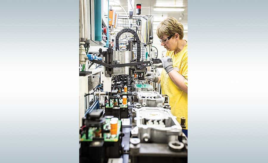 Manufacturers in a variety of industries face similar assembly line layout issues and challenges. Photo courtesy Nexteer Automotive