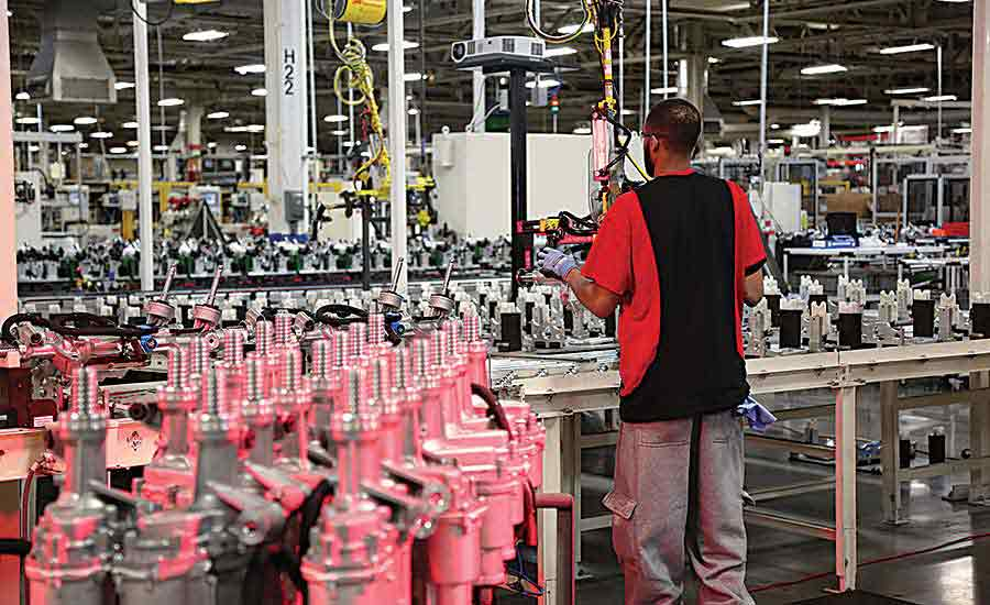 Lean lines should accommodate increasing product variety without compromising quality or introducing waste into the process. Photo courtesy Nexteer Automotive