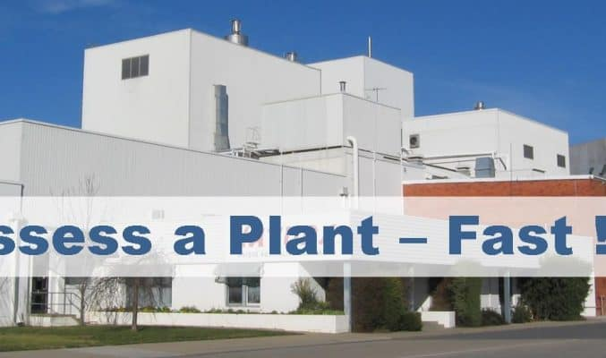 Assess a Plant - FAST!!! Factory Image; Lean Assessment, Lean Audit, Lean Manufacturing Assessment, Lean Manufacturing Audit, Rapid Plant Assessment, Read A Plant Fast, Lean Maturity Assessment, Rapid Plant Assessment A Lean Transformation Tool